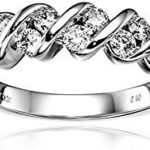 14k White Gold and Diamond Channel-Set Ring (1/2 cttw, H-I Color, I1-I2 Clarity) Just $441.99-$456.99 Shipped!
