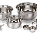 12 Piece Stainless Steel Mixing Bowls w/ Measuring Cups, Measuring Spoons And Barrel Whisk For Just $11.63