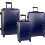 Nautica Ahoy 3 Piece Hardside Spinner Luggage Set Just $168.97 Shipped!