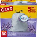 Box of 80 Glad OdorShield Tall Kitchen Drawstring Trash Bags Just $7.20 – $8.05 + Free Shipping!