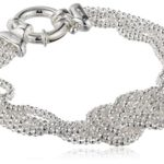 Made In Italy Sterling Silver Mesh Love Knot Bracelet For Just $41.17