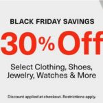 Extra 30% Off Shoes, Boots, Coats, Clothing, Jewelry, Accessories, Luggage & More From Amazon!
