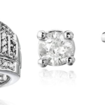 10kt White Gold Round and Princess Cut Diamond Ring Only $158.19 Shipped!