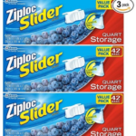 Pack of 3 Ziploc Slider Storage Bags Quart Value Pack Just $8.02 – $8.97 + Free Shipping