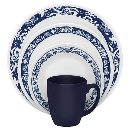 Corelle Livingware 16-Pc. Dinnerware Set u2013 South Beach  sc 1 st  DealsMaven.com & Corelle Livingware 16-Piece Dinnerware Sets On Sale For $19.99 at ...