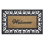 Achim Home Furnishings Fleur De Lis Wrought Iron 18 by 30″ Rubber Door Mat For $9.88