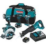 Makita 18V LXT Lithium-Ion Cordless 5 Piece Combo Kit For Only $299 Shipped!