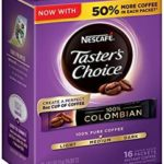 Nescafe Taster's Choice Instant Coffee, Colombian (Pack of 8 – 128 Packets) For $13.75 – $15.86 + Free Shipping