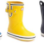 Kids Hunter Buoy Stripe Rain Boots and Crocs 'Bump It' Pull-On Waterproof Rain Boots On Sale For $29.74-$40.20