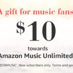 Get A $10 Amazon Music Unlimited Credit