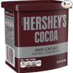 Pack of 6 HERSHEY'S Cocoa (Natural Unsweetened, 8-Ounce Cans) Just $10.15 – $11.34 + Free Shipping! ($1.69-$1.89 Per Can!)