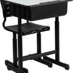 Flash Furniture Adjustable Height Student Desk and Chair with Black Pedestal Frame Only $67.99 Shipped!