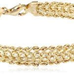 14k Yellow Gold Braided Rope Bracelet Only $158.99 w/ Free Shipping