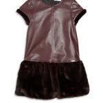 Junior Gaultier Toddler's, Little Girl's & Girl's Tatiana Faux Fur Drop-Waist Dress On Sale For $106-$120