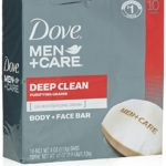 Pack Of 10 Dove Men+Care Body and Face Bar, Deep Clean, Just $5.86 – $6.76 + Free Shipping!