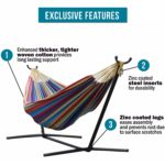 Today Only: Vivere Double Hammock with Space-Saving Steel Stand Only $79.99 w/ Free Shipping