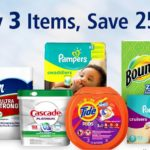 Buy 3 Select Proctor & Gamble Baby, Household, or Cleaning Items And Get An Extra 25% Off!