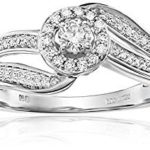 10k White Gold Round Twist Diamond Engagement Ring In Size 7 For Only $166.73 w/ Free Shipping & Returns!