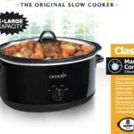 Crock-pot 8 quart Oval Manual Slow Cooker For Just $27.99!