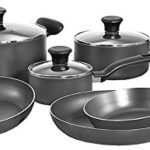 T-fal Initiatives Nonstick Inside and Out Dishwasher Safe Oven Safe 10-Piece Cookware Set Only $39.56!