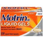 Motrin Liquid Gels, 120 Count For $10