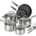 T-fal Precision Stainless Steel Nonstick Scratch Resistant Dishwasher Safe Oven Safe 12-Piece Cookware Set Just $59.99 w/ Free Shipping!