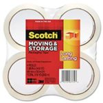 4 Rolls Of Scotch Long Lasting Storage Packaging Tape For $6.72