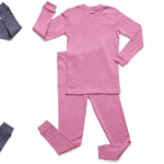 Leveret Solid Marled 2 Piece Pajama 100% Cotton (Size 2-5) For $11.19