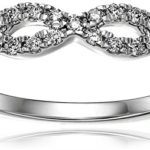 Today Only: 14k White Gold Diamond Infinity Anniversary Ring Just $364.99 w/ Free Shipping & Free Returns!