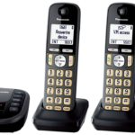 Panasonic Cordless Phone with Answering Machine- 4 Handsets – Only $69.99!
