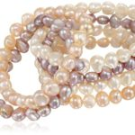 TARA Pearls Set of Six Freshwater Pearl (7-8 mm) Stretch Bracelets Only $20!! (Reg. $85!)