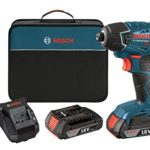 Bosch 18-Volt Lithium-Ion 1/4-Hex Impact Driver Kit with 2 Batteries, Charger and Bag For Only $119 Shipped!