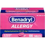 Benadryl Allergy Ultratab Tablets, 100 Count For Just $8.94