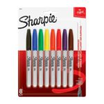 Sharpie Permanent Markers, 8 Pack, Assorted Colors For $3.53 + Free Shipping