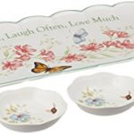 Lenox Butterfly Meadow Sentiment 4pc Hors D'Oeuvres Tray with Dipping Bowls Only $13.50!