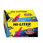 Pack of 24 HI-LITER Desk Style Yellow and Pink Just $4.91 – $5.17 + Free Shipping