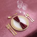 Signature Collection Premium China Like White/Gold 40 Pieces Plastic Plates Package For $20.99