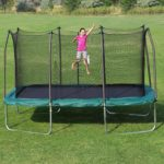 Skywalker Trampolines 8 X 14-Feet Rectangle Trampoline and Enclosure with Green Spring Pad Only $235! (Reg $500!)