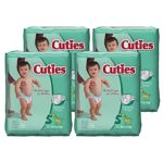 Get 4 Packs of Size 3 or 5 Cuties Baby Diapers For As Low As $7.61!