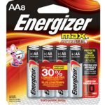 Pack of 8 Energizer MAX AA Batteries For $1.93-$2.22 + Free Shipping