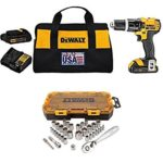Today Only: DEWALT 20V MAX Compact Drill Kit With 34 Piece Drive Socket Set Just $153 Shipped