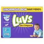 Case of Luvs Ultra Leakguards Diapers Size 2 or Size 5 As Low As $13.58 + Free Shipping!