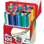 RoseArt SuperTip Assorted Color Washable Markers 100-Pack For $10.30