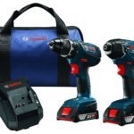 Bosch 18V Lithium-Ion Cordless Drill Driver / Impact Combo Kit (2.0 Ah Batteries) For $134.91 Shipped