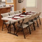 Lifetime 8 Feet Fold In Half Banquet Table Only $55 Shipped!