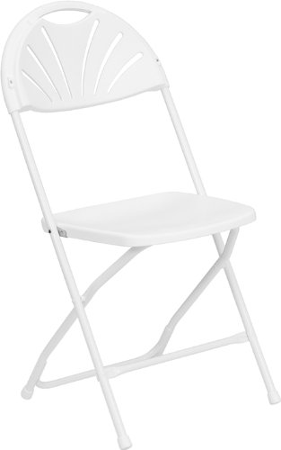 Flash Furniture 8 Pack Hercules Series Plastic Fan Back Folding Chair,  800 Pound Capacity U2013 Link