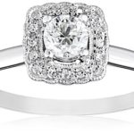 14k White Gold 5 /8 carat Diamond Milgrain Solitaire Frame Engagement Ring Only $255.91 Shipped!!