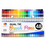 Smart Color Art Dual Tip Brush Pens with Fineliner Tip 0.4 Art Markers (48 Unique Colors) Just $26.65