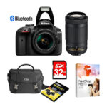 Nikon D3400 DSLR Camera & 18-55mm VR & 70-300mm Lens Set For $499.99 Shipped