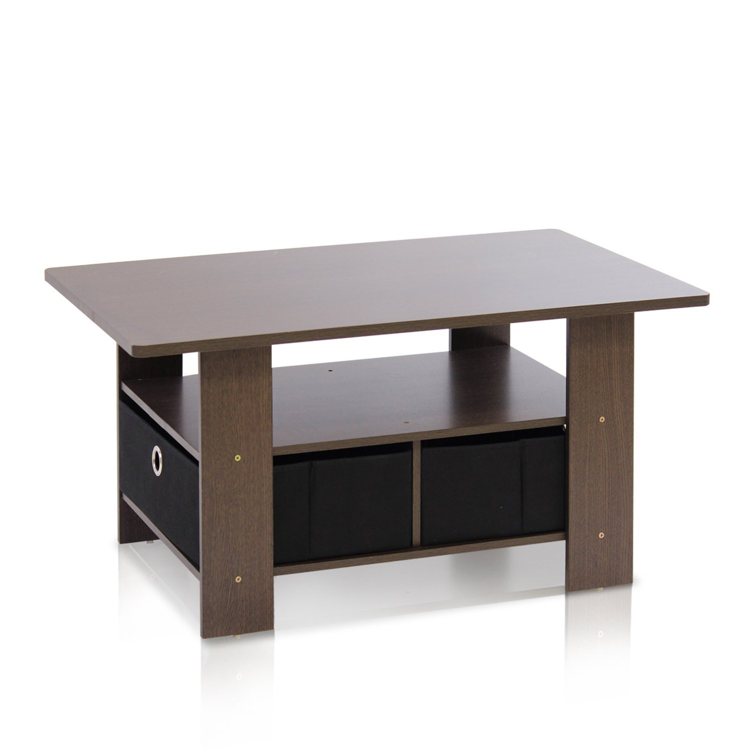 Furinno Coffee Table with Bins For FREE Hot Deals DealsMavencom